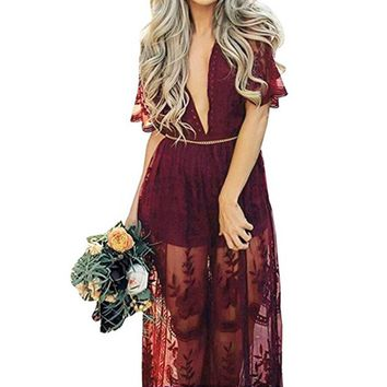 Lace Dress With Romper