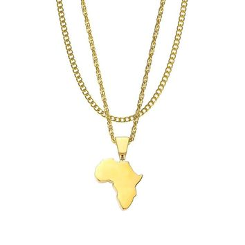 Mister Continent Africa Necklace - Gold
