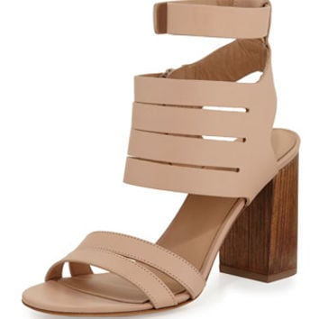 Vince Freida Leather Multi-Strap Sandal, Nude