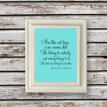 Digital Download, Breakfast at Tiffanys, Audrey Hepburn, Holly Golightly Print