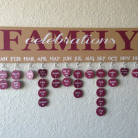 Family Celebrations Sign – hand-painted, tags completed