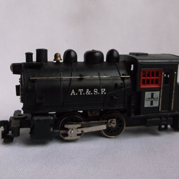 HO 1:87 Life-Like 0-4-0 Dockside Steam Locomotive Santa Fe A.T. & S.F - Vintage Collectible Train Engine