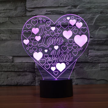 LED Acrylic 3D Multi-color New Arrival Colorful Gradient Lights = 5826342465
