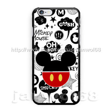 Disney Mickey Mouse Poster Art For all iPhone Print On Hard Plastic Case