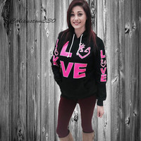 black country love  hot pink hoodie