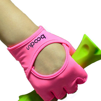 Gym Body Building Training Fitness Gloves Sports Weight Lifting Exercise Slip-Resistant Gloves For Women yoga gloves