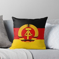 'GDR' Throw Pillow by planetterra