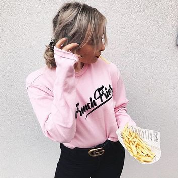 2018 Women'S Sexy Letters Printed Sweater