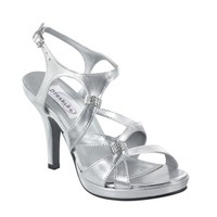 Silver prom shoes | Prom dresses | Prom shoes | Claire by Dyeables 21012 Silver Platform Sandal | GownGarden.com