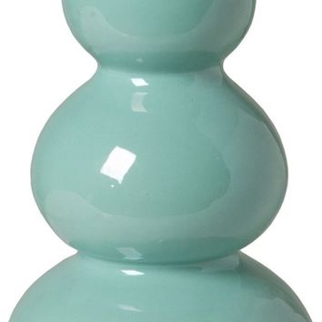 Classic Teal Triple Gourd Vase