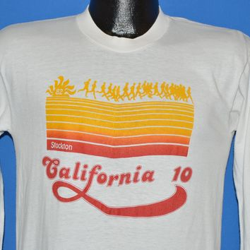 80s Stockton California 1982 10K Run Long Sleeve t-shirt Small