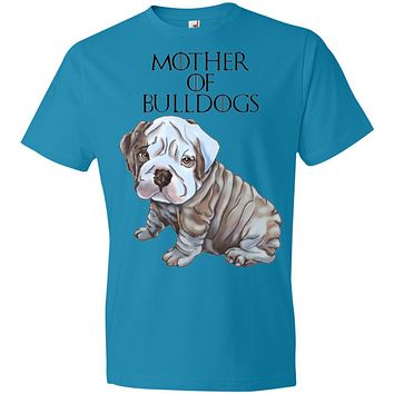 English Bulldog Shirt For Women, Girls - Mother of Bulldogs