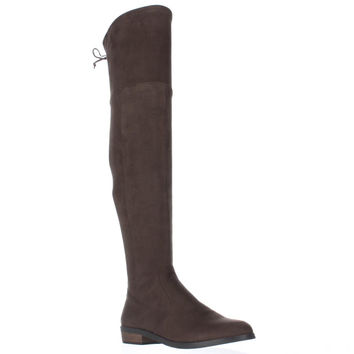 Vince Camuto Crisintha Over-The-Knee Rear Lace Boots, English Taupe, 10 US