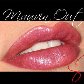 Mauvin Out Mineral makeup Lipstick (Medium Mauve) Cheek and Lip Color