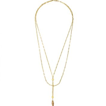 Long Nights Double Chain Necklace