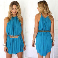 Sleeveless Loose Mini Dress