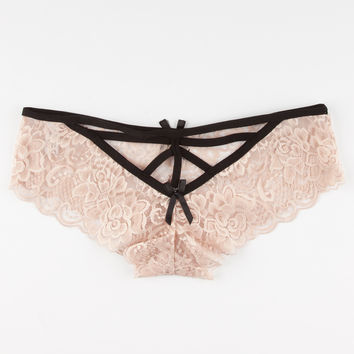 Lattice Back Lace Boyshorts | Panties