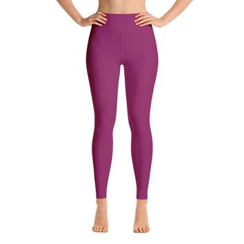 Solid Purple Yoga Leggings