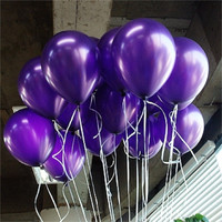 10pcs/lot 1.5g 10inch Purple Pearl Latex Balloon Air Ball Inflatable Wedding Birthday Party Balloon Decoration Float Classic Toy