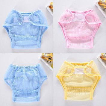 MUQGEW reusable baby training pants Baby Infant Solid Gauze ventila Cloth Diapers Reusable Nappy Washable Snap Nappy washable di