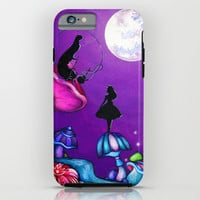 Alice in Wonderland and Caterpillar iPhone & iPod Case by Annya Kai