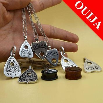 ac DCCKO2Q Stainless Steel Ouija Board Ear Tunnel Plugs Gauge Expanders Earlet Taper Stretcher Piercing Jewelry Pendant Necklace Gifts