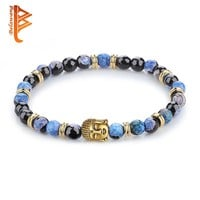 BELAWANG Trendy Natural Stone Beaded Bracelet for Women Personality Handmade Buddha Bracelet Religious Jewelry Making