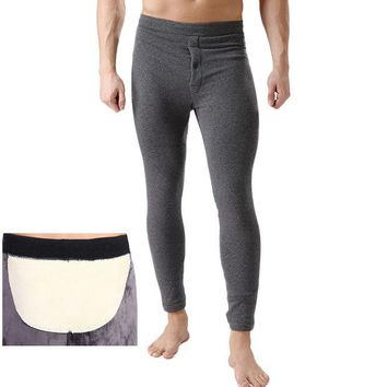 DCCKJG2 2016 Winter Plus Cashm Men Thermal Tight Underwear Men's Cotton Pants Long Johns Plus Size Polyester Super Soft Underwear