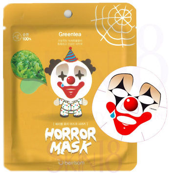 Berrisom Horror Character Mask Series - Pierrot (Green Tea with Moisturizing Care)  *exp.date 08/18