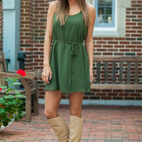 A Lot Of Sass Dress, Dark Green