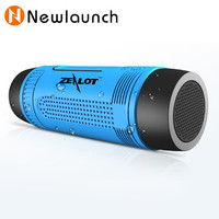 Outdoor waterproof Bluetooth Speaker With LED Flashlight Sport Stereo Wireless portable speakers 4000mAh Battery TF Card Slot