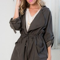 Discoverer Trench Coat in Charcoal