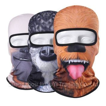 ESBON 3D Animal Face Mask Bicycle Balaclava Motorcycle Hats Winter Warmer Party Halloween Full Face Mask Cat Dog