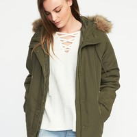 Hooded Frost-Free Utility Parka for Women|old-navy