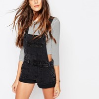 Pull&Bear Denim Dungaree Shorts