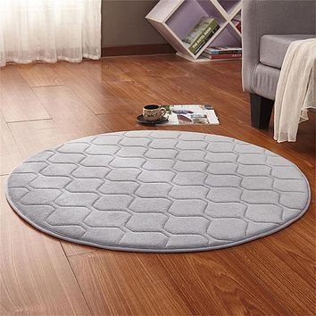 Round Velvet Carpets For Living Room Soft Area Rug
