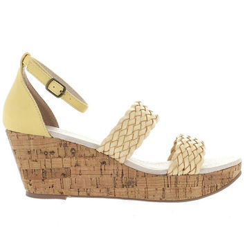 Restricted Bali - Natural Woven Dual Band Platform Wedge Sandal