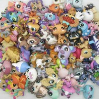 random 30pcs LPS cute quality pet shop toys cat dog Dachshund lion littlest horse girl child's gift