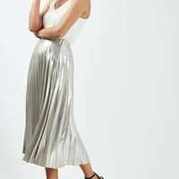 PETITE Metallic Pleat Skirt - New In