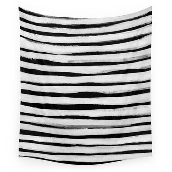 Society6 Black And White Stripes II Wall Tapestry