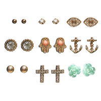 Karma Studs Earring Set | Wet Seal