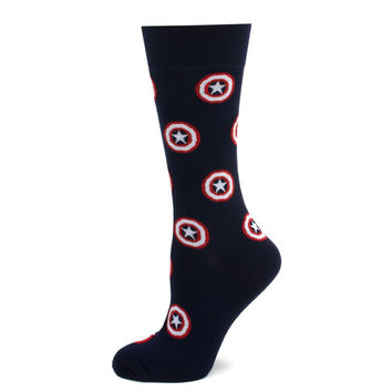 Captain America Shield Navy Socks