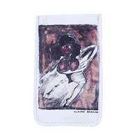 CLAIRE BARROW LEATHER PHONE SLEEVE / WHITE