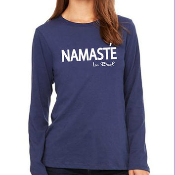 Namaste in bed Women Clothing Long sleeves T-shirt