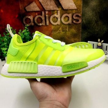DCCKIJG ADIDAS'NMD Trending Fashion Gauze Casual Sports Shoes Fluorescent green G-MDTY-SHININ