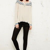 Free People Cabin in the Woods Top in Neutral - Urban Outfitters