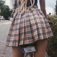 '' Burberry '' Women Fashion Skirt
