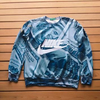 NIKE Fashion Money 3D Print Tops Pullover One-nice™