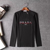 Prada Men or Women Fashion Casual Long Sleeve Top Sweater Pullover