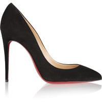 Christian Louboutin - Pigalle Follies 100 suede pumps